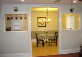 Kitchen and Wet Bar Open to Living Room and Dining Room